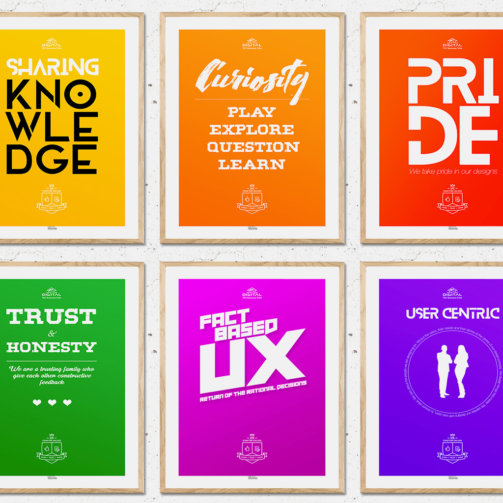 UX values posters